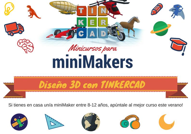 Minicursos para MiniMakers · Diseño 3D con Tinkercad