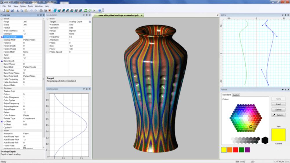 PotterDraw gratis: Diseña en 3D tus recipientes en un momento