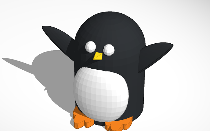 Happy Peter Penguin, en TinkerCad.com