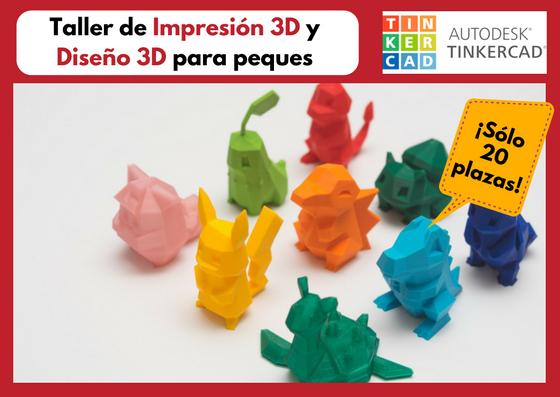 Taller de Diseño e Impresión 3D con TinkerCad · ¡Aprende a imprimir en 3D tus juguetes!
