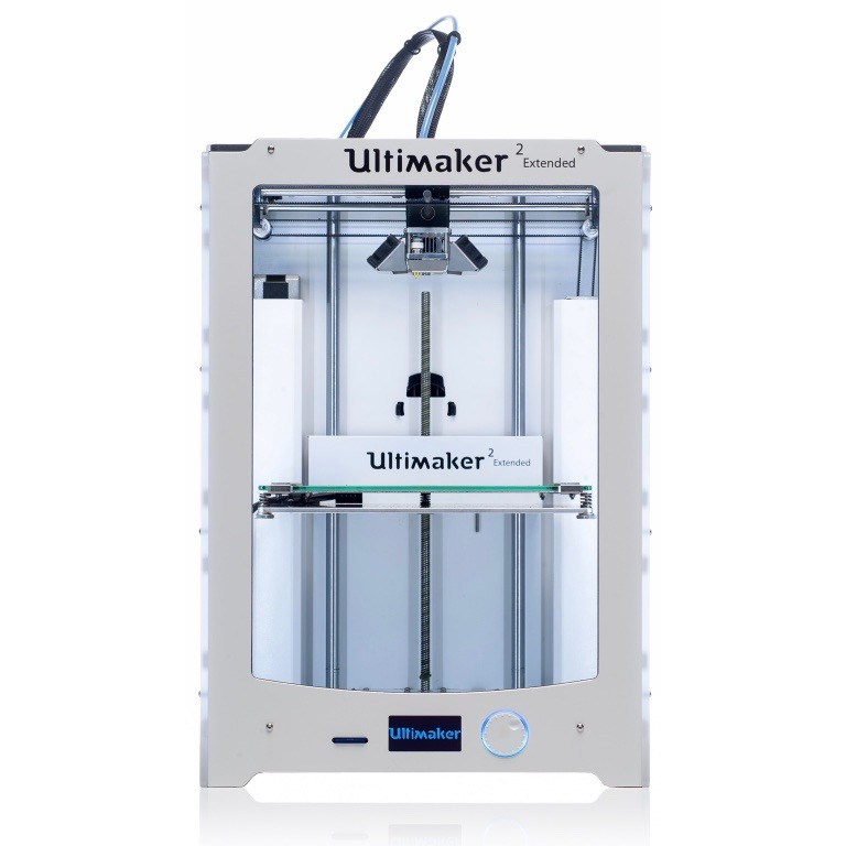 Impresora 3D ULTIMAKER 2 Extended · 1 Cabeza de impresión · volumen 342 x 493 x 688mm · ABS/nailon, USB
